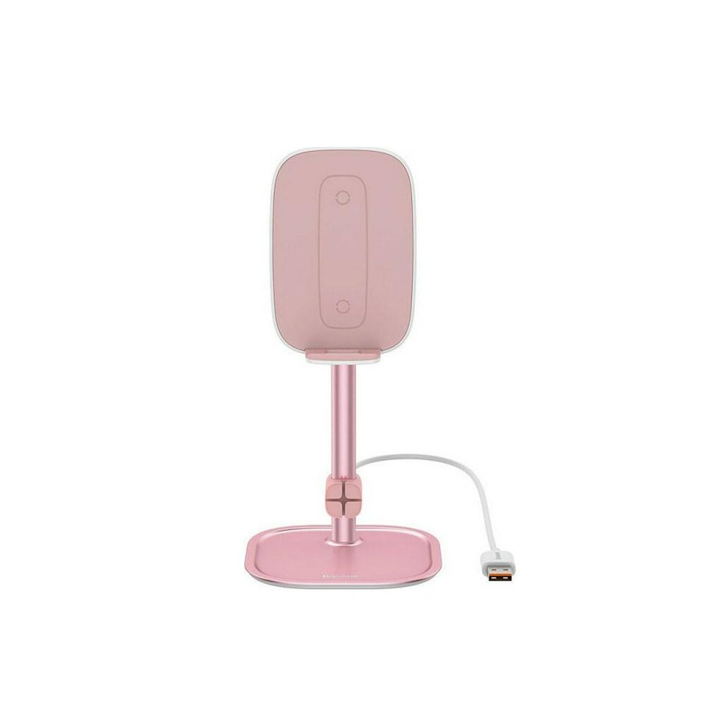 Baseus SUWY-DOR Βάση Στήριξης Κινητού με Ασύρματη Φόρτιση Pink