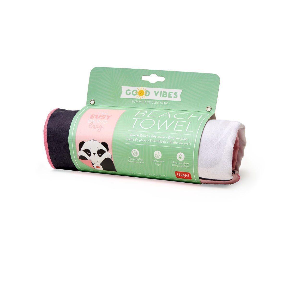 Legami BT0007 Πετσέτα Παραλίας - Panda (1.80 x 0.85 εκ)