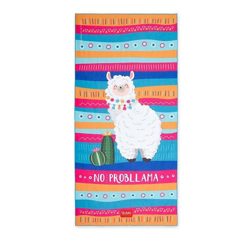Legami BT0002 Πετσέτα Παραλίας - Llama (1.80 x 0.85 εκ)