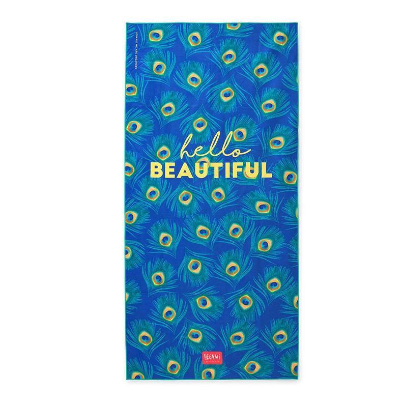 Legami BT0009 Πετσέτα Παραλίας - Peacock (1.80 x 0.85 εκ)