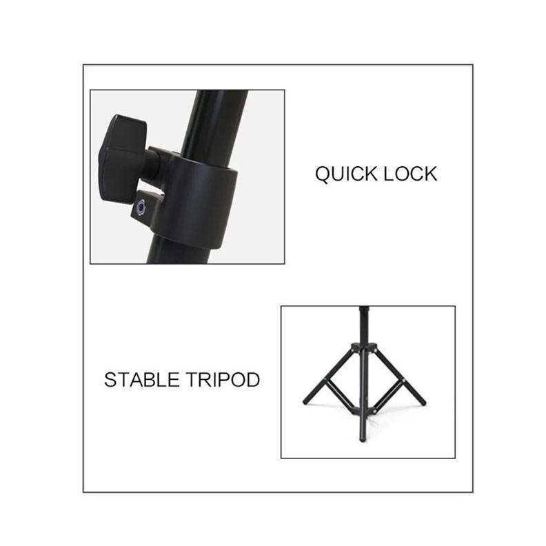 OEM 10΄΄ Βάση κινητού με Ring Light για Smartphones 26cm με Τρίποδο 1,6m Black